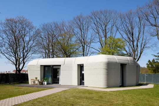 The house was designed to blend in with the landscape