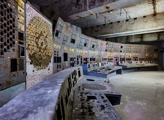 Ludewig's project also took him to the abandoned Chernobyl Nuclear Power Plant in present-day Ukraine.