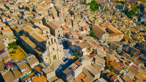 Italian town Mussomeli