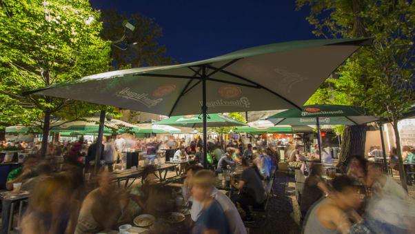 the beer garden at bohemian hall in queens is one of the larger beer gardens in - Bohemian Beer Garden