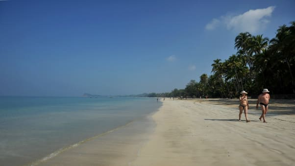 Ngapali A Long Stretch Of Pristine White Sand