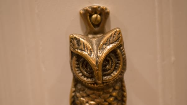 The Door Knocker For The JK Rowling Suite Is A Brass Owl In Rowlingu0027s Honor.