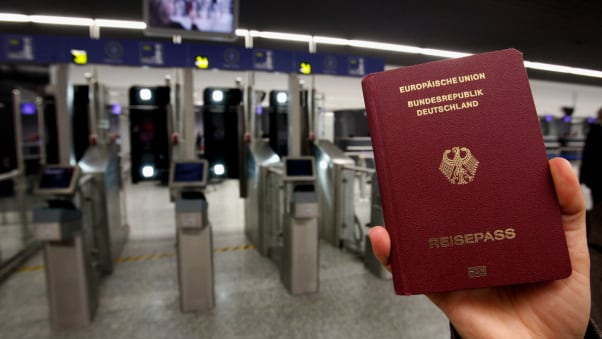 German passport at easyPass at Frankfurt International Airport