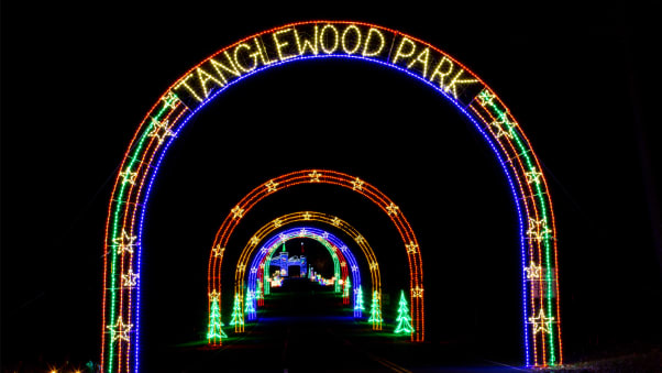 tanglewood festival of lights is a drive through exhibit of more than a million individual - Drive Through Christmas Lights