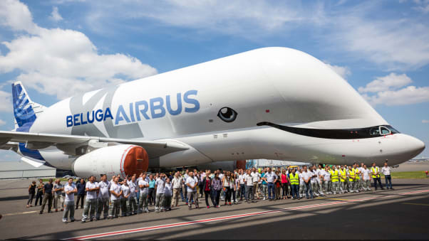 Airbus Unveils Beluga Xl at Toulouse Factory