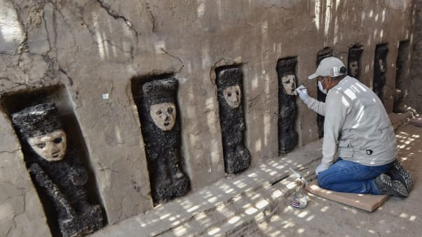 Centuries-Old Sculptures Discovered in Peru