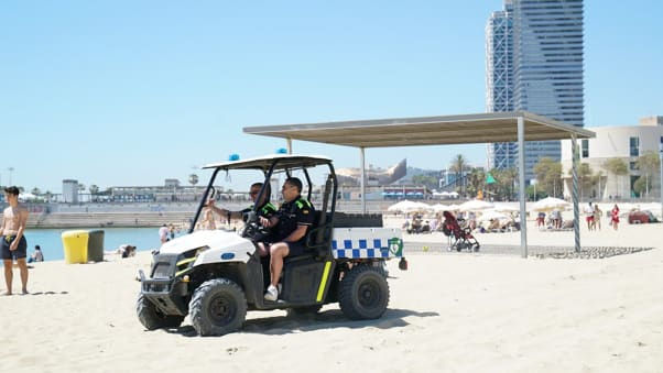 Police have been preventing crime, patrolling beaches on quad bikes, scooters, boats, vehicles and on foot.