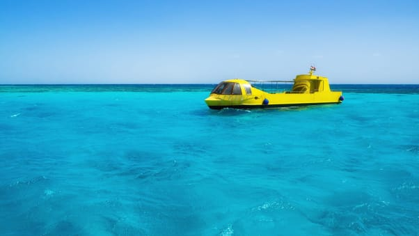 For those who don't fancy diving into the sea themselves, submarines are a great way to see the views underwater.