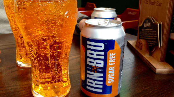 "Irn Bru, Scotland's ""national drink,"" is what you'll drink in Edinburgh to wash down your morning roll with square sausage."