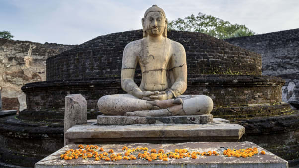 The ancient city of Polonnaruwa, which was Sri Lanka's capital in the 12th century is a UNESCO Heritage site.