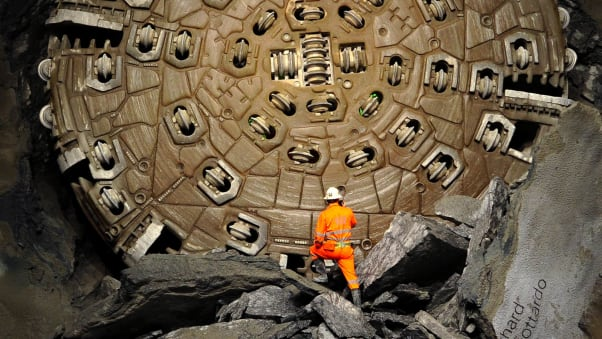 Work on the Gotthard Base Tunnel was completed in 2016. FABRICE COFFRINI/AFP via Getty Images