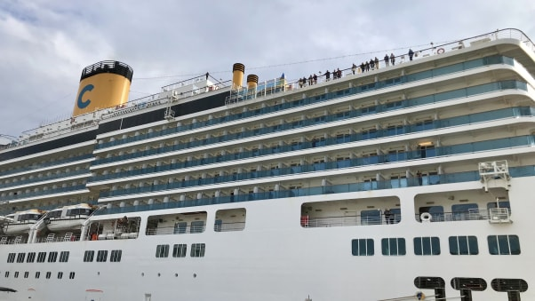 My last photo of the ship during disembarkation in Genova