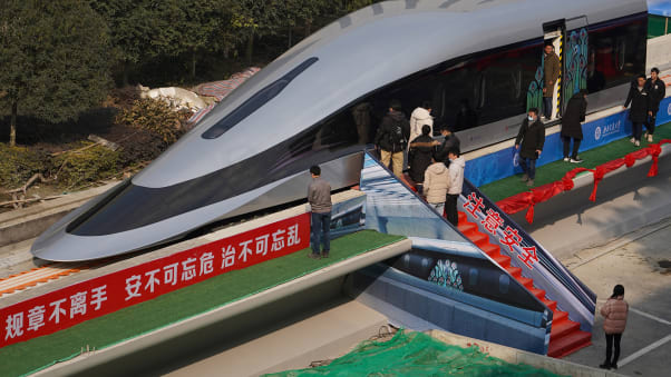 In January, China revealed a prototype for a new high-speed Maglev train that is capable of reaching speeds of 620 kilometers (385 miles) per hour.