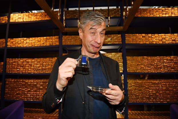 Artist Maurizio Cattelan pictured at a recent event in Milan, Italy.