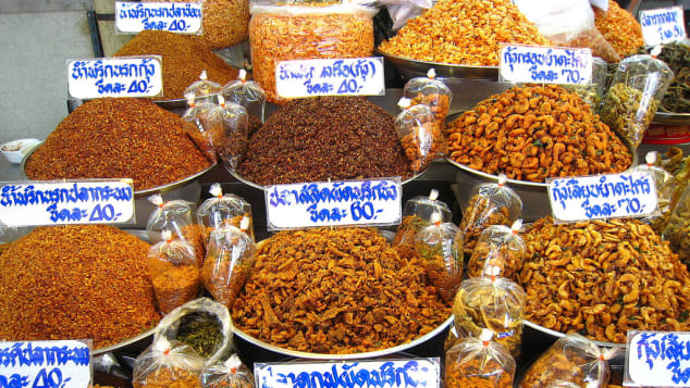 Eat local dishes at local restaurants and markets, like Or Tor Kor market, Bangkok