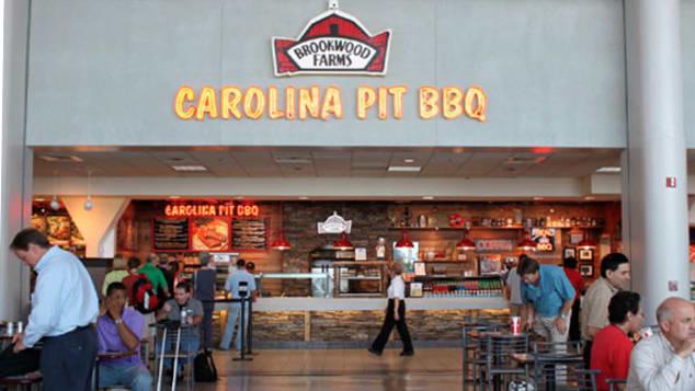 So meaty! Brookwood Farms BBQ at Charlotte Douglas International Airport.
