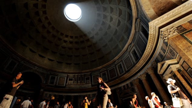 Rome's Pantheon has an unreinforced concrete dome -- the largest in the world.