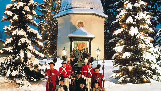 "Christmas carol ""Silent Night"" was first  performed outside a small chapel juts outside Salzburg."
