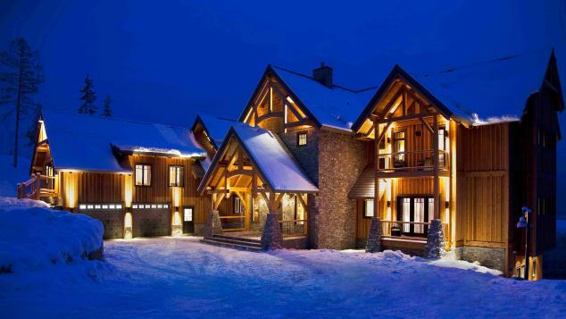 A luxurious spot for a ski.