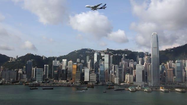 hong kong plane A380