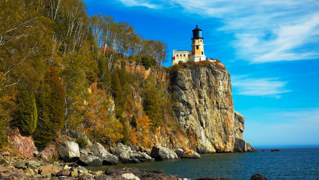 There are no travel restrictions to Minnesota to see sights such as Split Rock Lighthouse on Lake Superior.