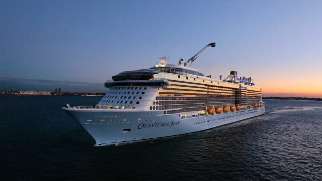 """Royal Caribbean ship Quantum of the Seas has been running """"cruises to nowhere"""" in Singapore."""