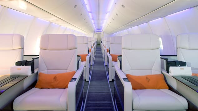 Interior of the new Four Seasons private jet.