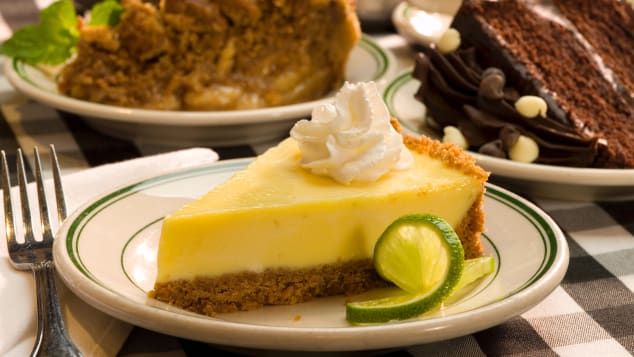 Key lime pie is a staple on south Florida menus.