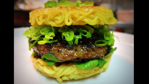 food mashups- ramen burger