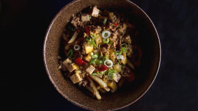 food mashups- tofu chili cheese fries