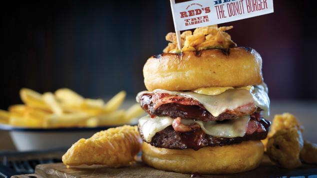 food mashups- donut burger
