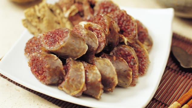 Sundae, or Korean sausage, has roots in Mongolian cuisine.