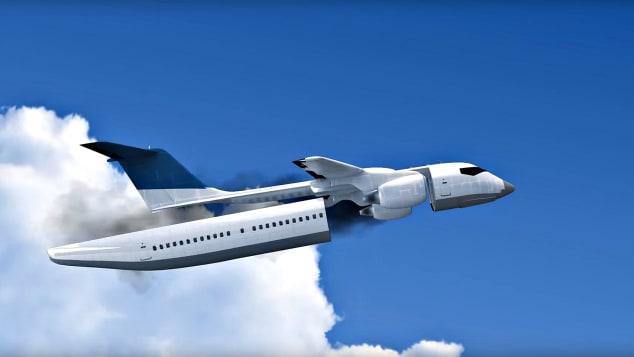 Futuristic plane rendering detachable cabin