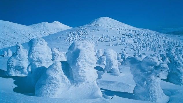 Aomori's Mount Hakkoda is a popular ski destination.
