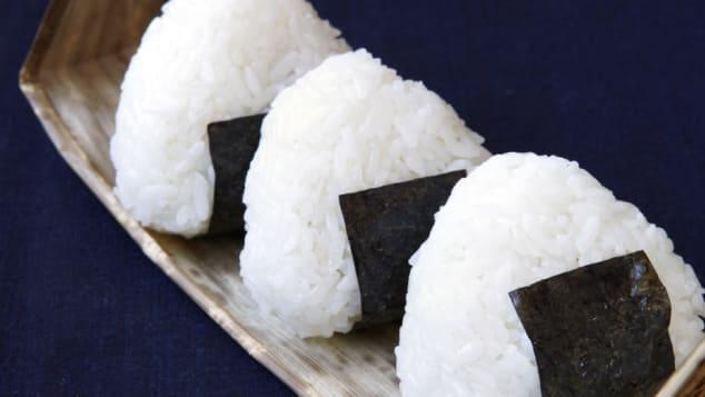 """Onigiri -- salted, pressed rice """"sandwiches."""""""