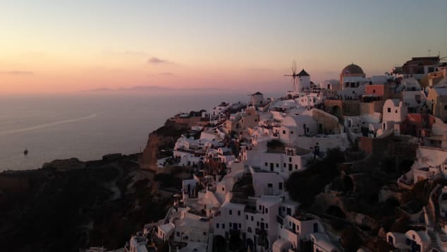 Santorini welcomed around two million tourists in 2017.