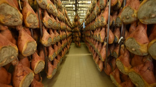 Parma ham -- a staple of Italian cooking.