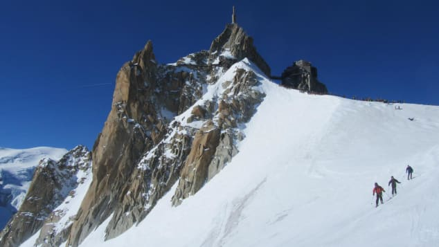 Thrill-seekers will love skiing at Chamonix Vallée Blanche, France.