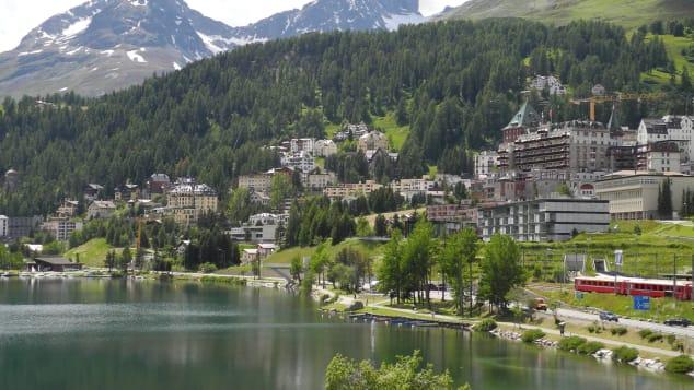St Moritz is a picturesque skiing hotspot.