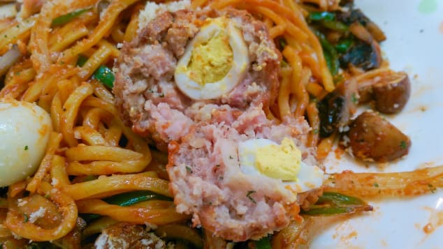 Naporitan spaghetti -- a Japanese-style pasta dish.
