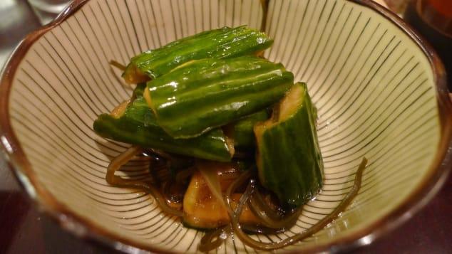 Tsukemono are Japanese pickled vegetables.