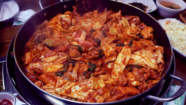 "A stir-fried chicken dish, ""dak galbi"" is best enjoyed in the northeastern city of Chuncheon."