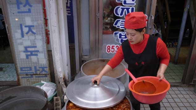 Diners flock to Okya restaurant for seonji gukbap -- a stew with clotted cow's blood.