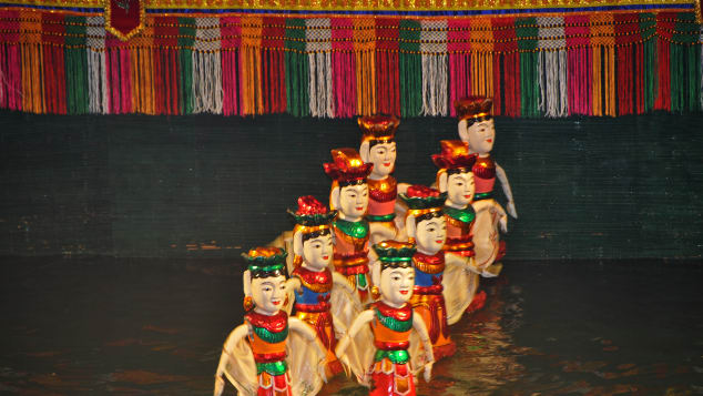 Water Puppets on parade.