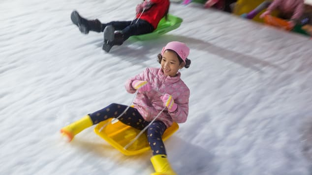 Kid-friendly fun at Snow Town Bangkok in Bangkok, Thailand.