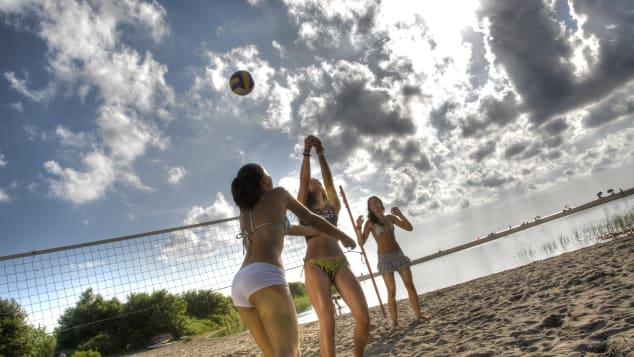 Beachside fun in Ulcinj.