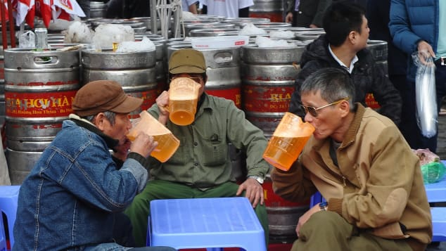 Vietnam is one of the top beer-drinking nations in Southeast Asia.