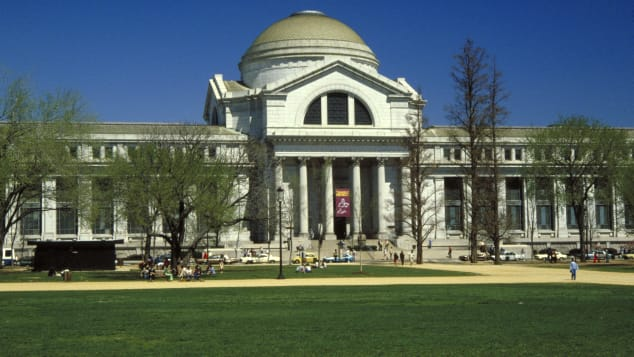 The Smithsonian's National Museum of Natural History is on the National Mall.