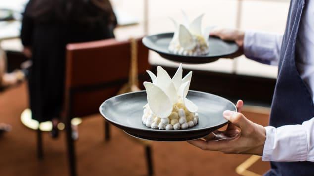 Bennelong's Opera House-inspired meringue.
