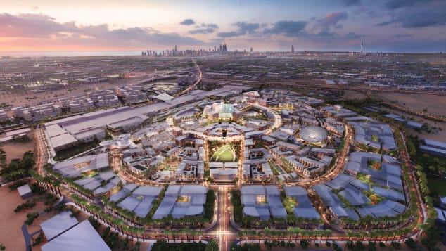 Rendering of the 1,080-acre Expo 2020 site in Dubai.